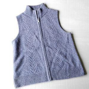 Pendleton Blue Lambswool Sweater Vest Sz M